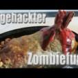Halloween Grusel Rezept: Abgehackter Zombiefuss Hackbraten oder Zwiebelmett