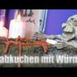 Halloween Rezept: Grabkuchen mit Regenwürmern