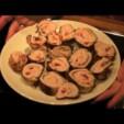 Putenroulade mit Frischkäse Füllung
